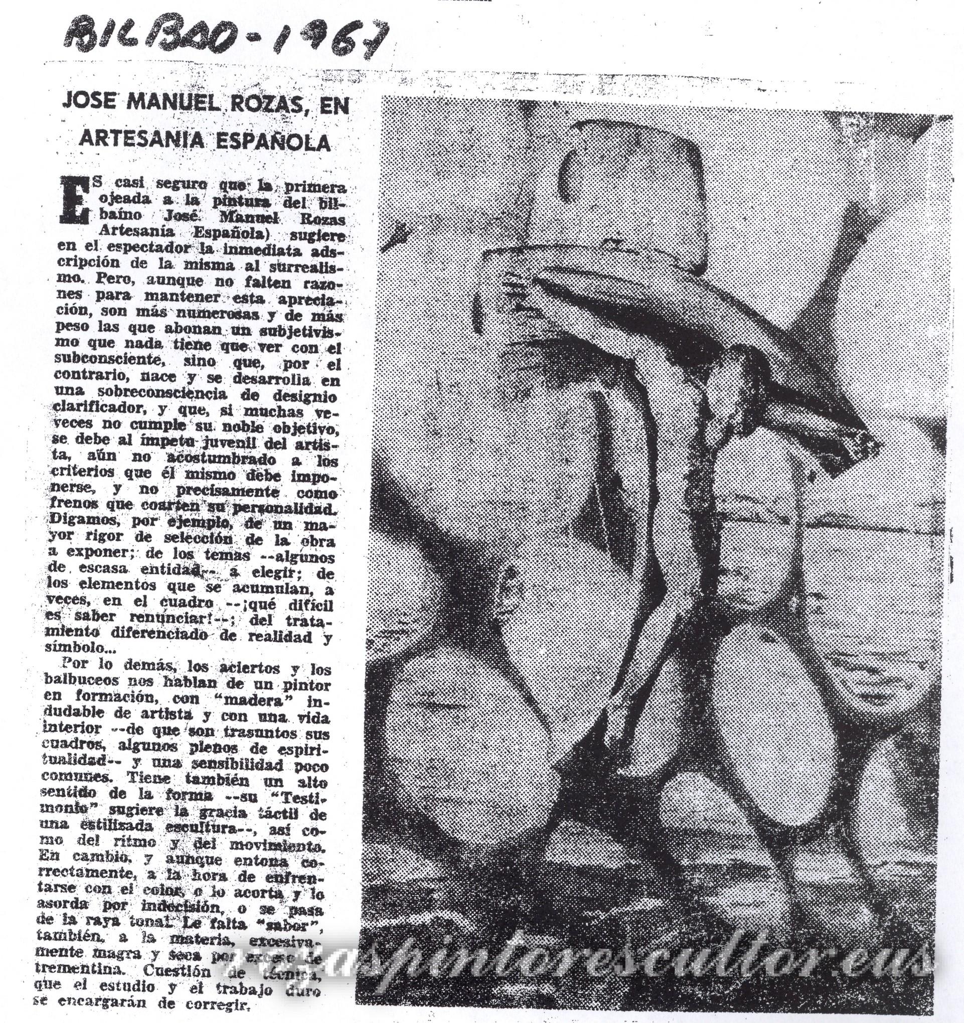 1967 José Manuel Rozas en Artesanía Española