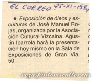 1984-11-25 Anuncio exposicion Sala Gran Via