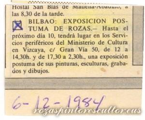 1984-12-06 Anuncio exposicion Sala Gran Via 50