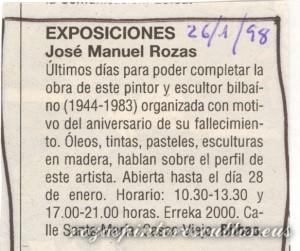 1998-01-26 Anuncio exposicion Erreka 2000