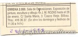 1998-01-28 Anuncio Exposicion Erreka 2000