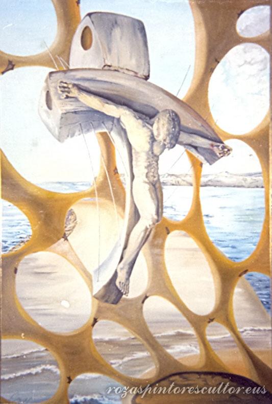 1966 Cristo hiperbolico 45x35