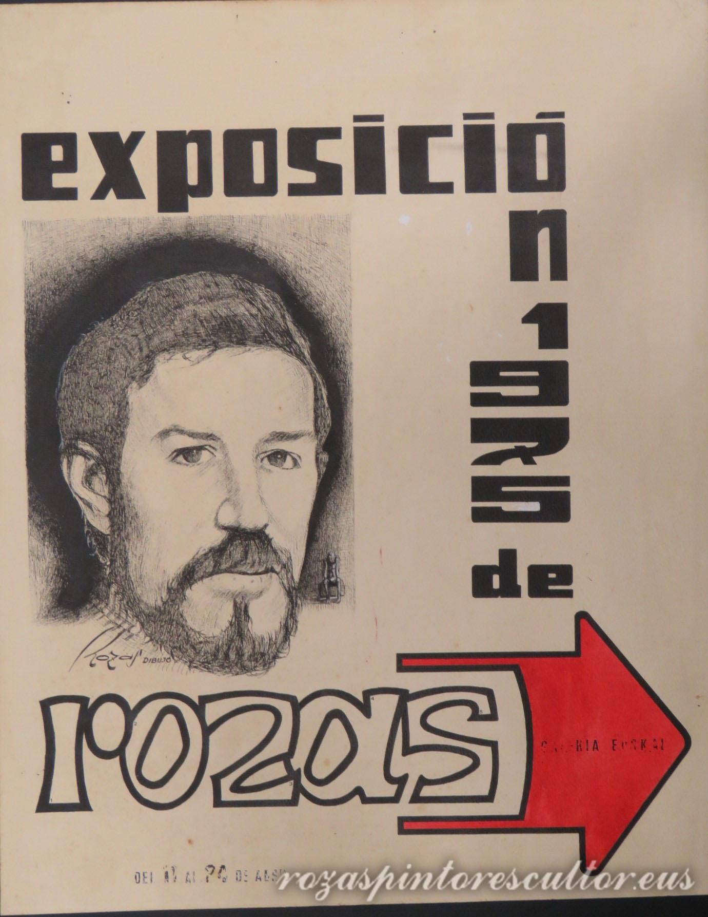 1975 Self portrait exhibition 63x50