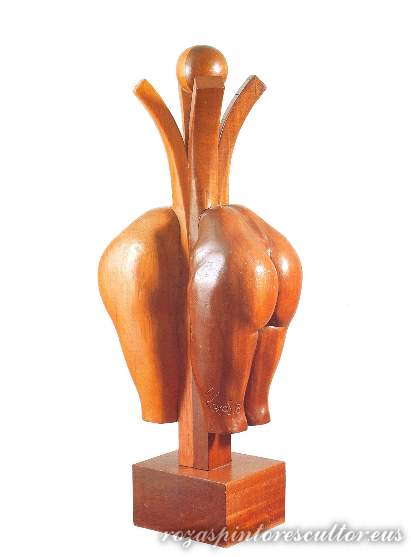 1978 Txalaparta 87x42x29 instrumento musical con madera