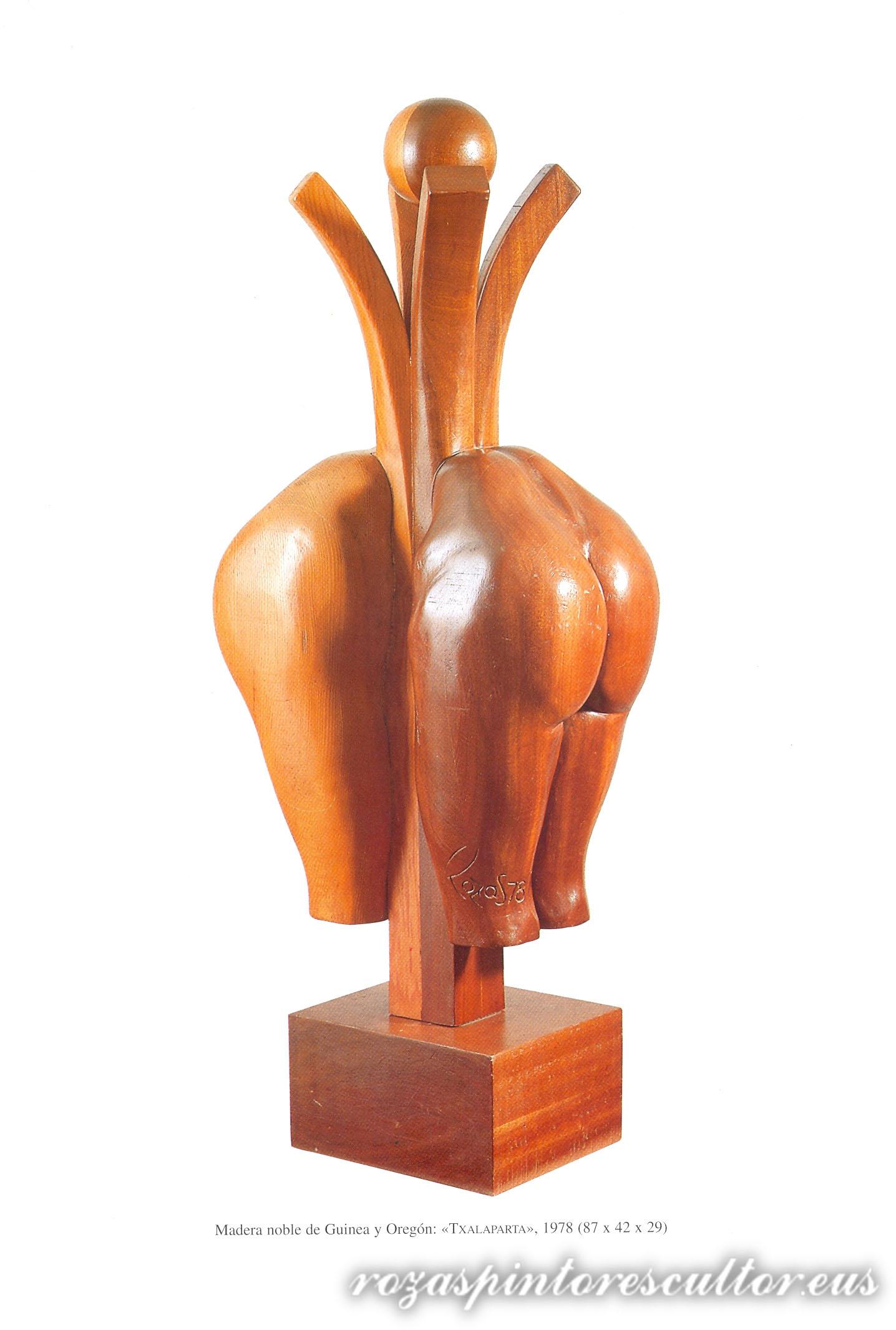 1978 Txalaparta-wooden musical instrument87x42x29