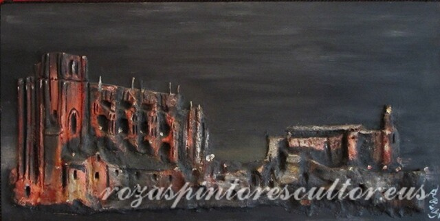 1968 Gothic church and lighthouse of Castro Urdiales