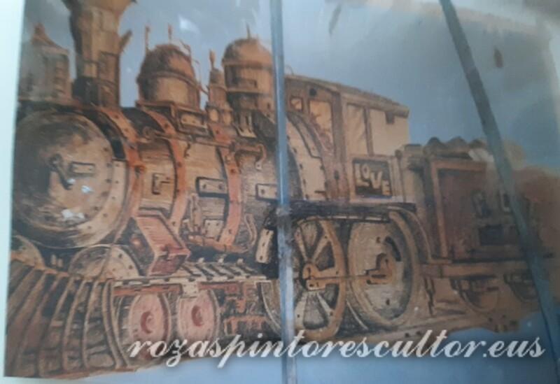1970 Locomotive in Castro Urdiales pub