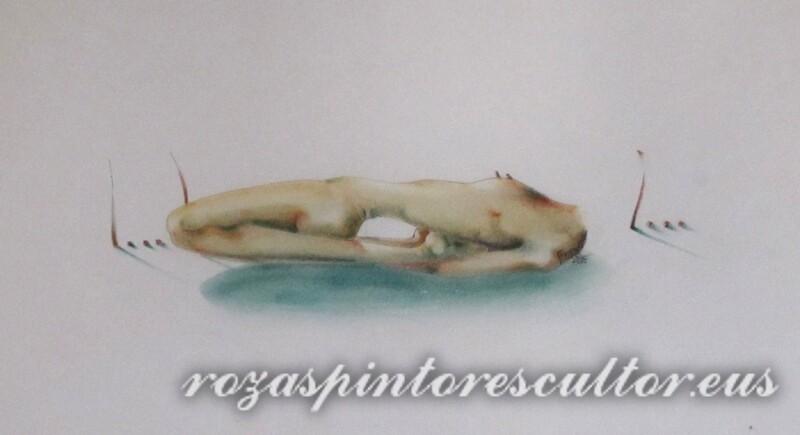 1972 Biluziaren azterketa pastelean III 45x35