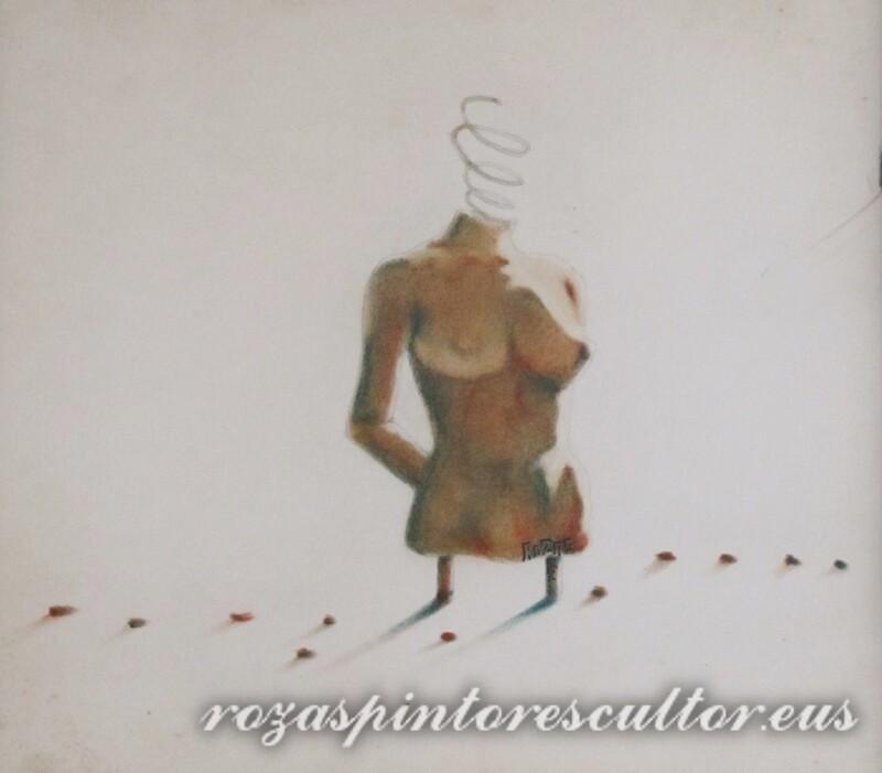 1972 Estudio de desnudo en pastel I 45x35