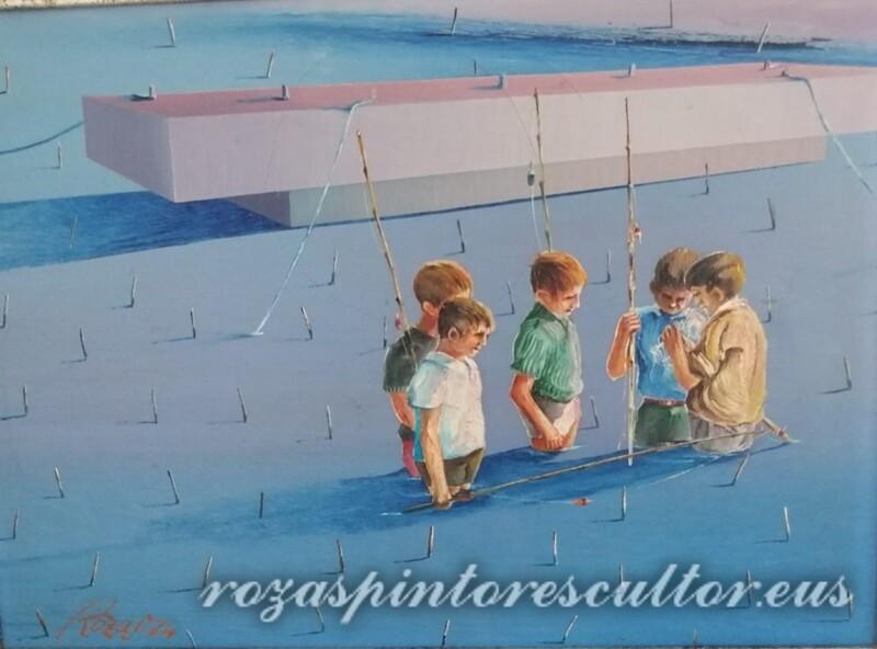 1974 Day of fishing 45x35